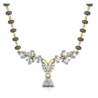 Avsar Real Gold & Swarovski Stone Karina Mangalsutra_Avm060yb