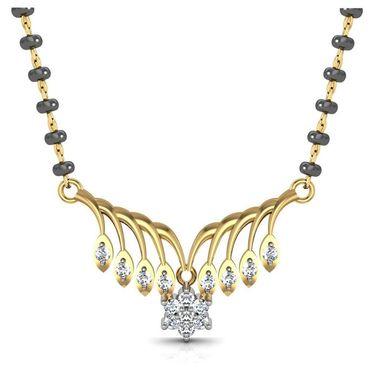 Avsar Real Gold & Swarovski Stone Janavi Mangalsutra_Avm066yb