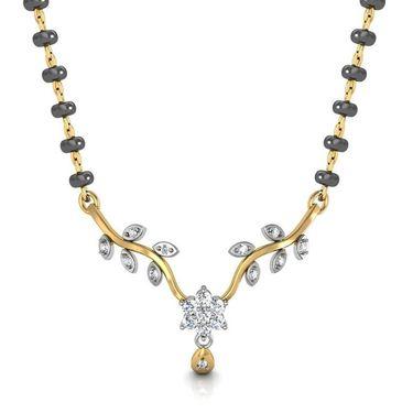 Avsar Real Gold & Swarovski Stone Divya Mangalsutra_Avm069yb