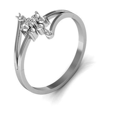 Avsar Real Gold & Swarovski Stone Kohinoor Ring_A020yb