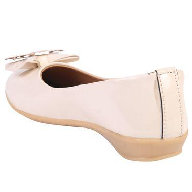 Azores Womens Cream Ballerina -Azf_10C