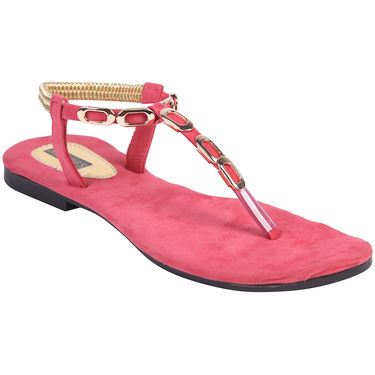 Azores Womens Baby Pink Flats -Azf_13Bp