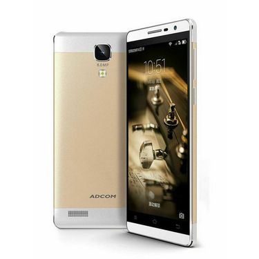 Adcom A-NOTE Android Kitkat, Quad Core Processor with 1GB RAM - Gold + Free Selfie Stick