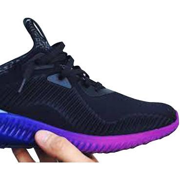 Adidas Mesh Black Sports Shoes -oal05