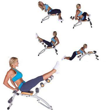 Protoner Adjustable 6 in 1 Exerciser with Massaging Back Support