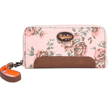 Be For Bag Canvas Pink Wallet -Alexis