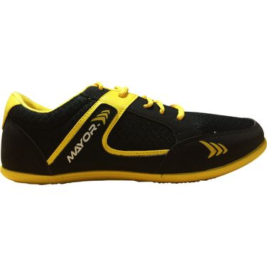 Mayor  Amaze Black, Yellow Shoes - 7