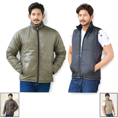 American Indigo Reversible Set of 2 Jackets For Men