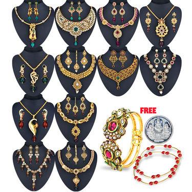 Amrapali 1 Gram Gold Plated 12 Jewellery Set