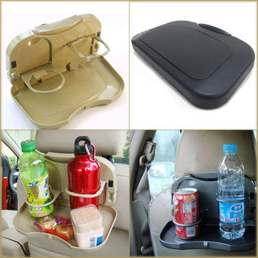 Automobile Car Meal Plate Drink Cup Holder Tray