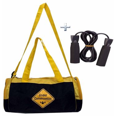 Combo of Protoner Gym Bag - Muscles Under Construction With  Rope