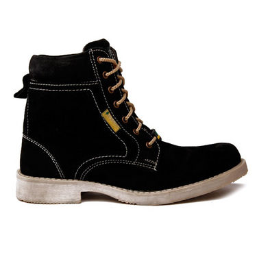 Bacca bucci Green Hill High Ankle Length Boots - Black