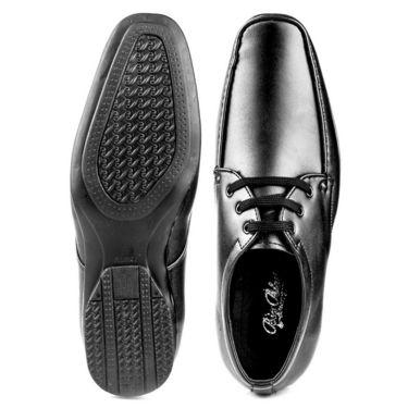 Kohinoor Footwears Faux Leather Formal Shoes BB02_Black
