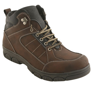 PU  Brown  Boot -ntb12
