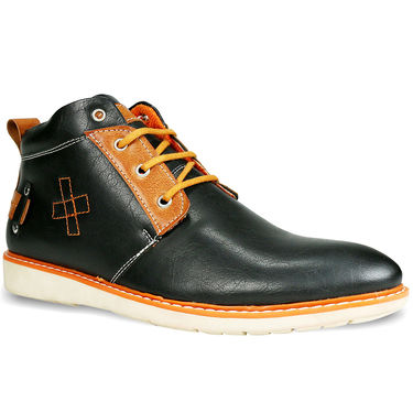 Bacca Bucci Genuine Leather Black Casual Shoes -Bbmb3061A