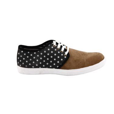 Bacca Bucci Canvas  Casual Shoes  Bbmb3084A -Black & Tan