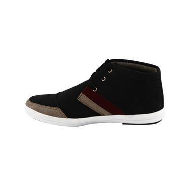 Bacca Bucci PU & suede  Casual Shoes  Bbmb3089A -Black