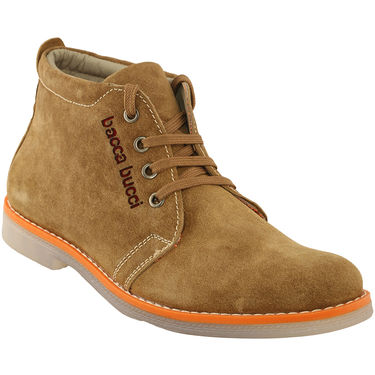 Bacca Bucci Genuine Leather Tan  Casual Shoes -Bbmb3137D