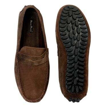 Bacca Bucci Suede Leather Brown Loafers -Bbmc4060C