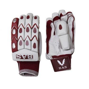 BAS Vampire (Size-L)  Bow 20/20 Batting Glove-White And Brown  - BG55