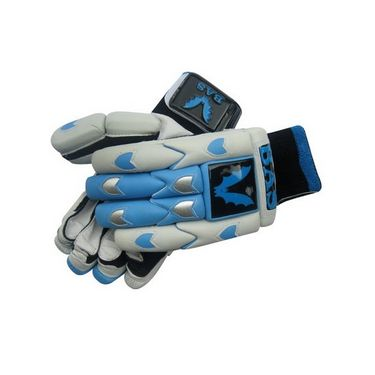 BAS Vampire  (Size-L) Centurion Batting Glove-White And Blue - BG58
