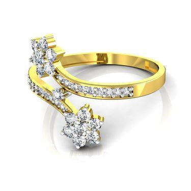 Avsar Real Gold & Swarovski Stone Karnataka Ring_B051yb