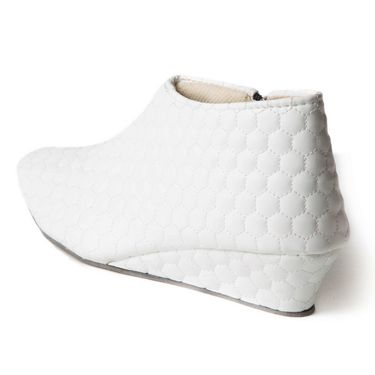 Branded Rexine Womens Boots BLS-009-WH