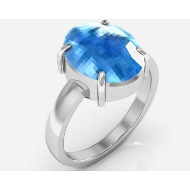 Kiara Jewellery Certified Blue Topaz 3.0 cts & 3.25 Ratti Blue Topaz Ring_Bltzrw