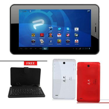 BSNL Penta T-Pad WS707C 2G Calling Tablet with 3G Dongle Support and Free Keyboard- Red