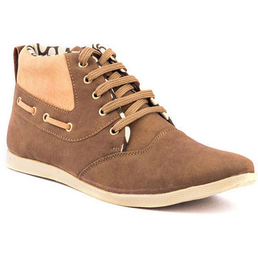 Kohinoor Footwears Nubuck Leather Casual Shoes BT0100_Brown