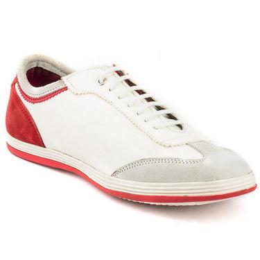 Kohinoor Footwears Suede leather Casual Shoes BT085_White