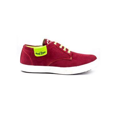 Kohinoor Footwears Fabric Casual Shoes BT094_Red