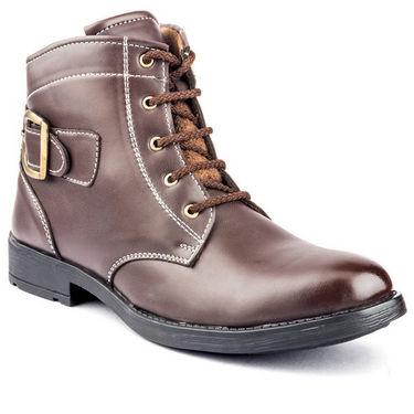Kohinoor Footwears Nubuck Leather Boots BT099_Brown