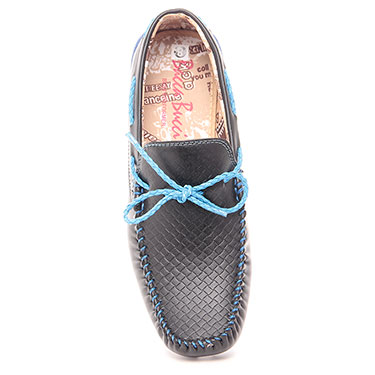 Bacca bucci  Faux Leather Loafers - Black & Blue