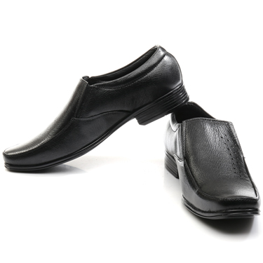 Bacca bucci Leather Formal Shoes - Black-4397