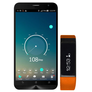 Smart Touch Screen Water Resistant Fitness Band  - Orange