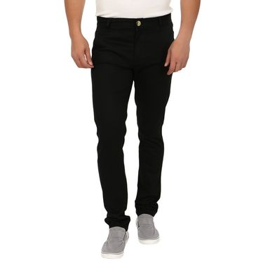 Blimey Slim Fit Cotton Chinos_Bf03 - Black