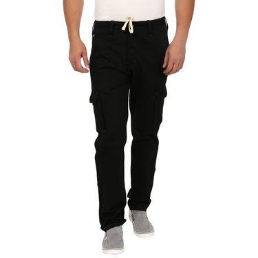 Blimey Regular Fit Cotton Cargo_Bf15 - Black
