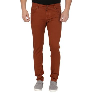Pack of 2 Blimey Slim Fit Cotton Chinos_Bf33 - Rust & Green