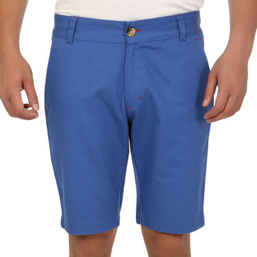 Pack of 2 Blimey Regular Fit Cotton Shorts_Bf55 - Brown & Blue