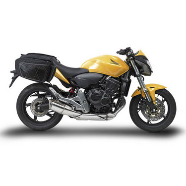 Bike Side Leather Bag Look Box Type - Black