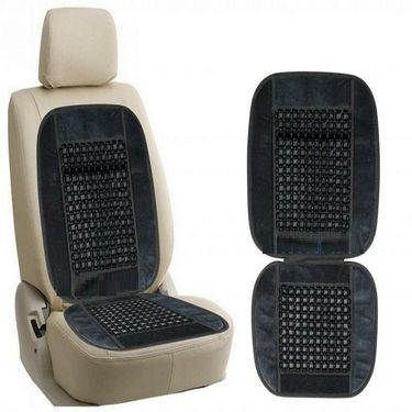 Combo - Car Micro Fibre Cleaning Cloth + Car Wooden Bead Seat Cushion with Grey Velvet Border + Universal Car Windshield Mount Holder Mobile Holder Stand Mobile Phone