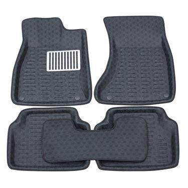Branded 3D Car Bucket Tray Footmat For Swift - Black