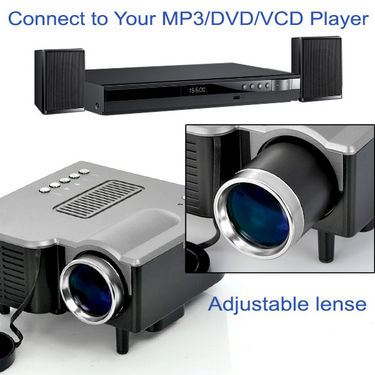Branded Advanced LED Cinema Projector with Remote