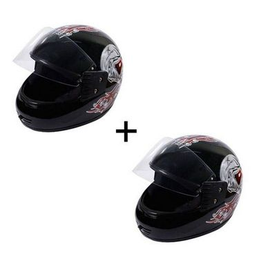 Branded DNG Max Black Full Face Helmet Red Graphics