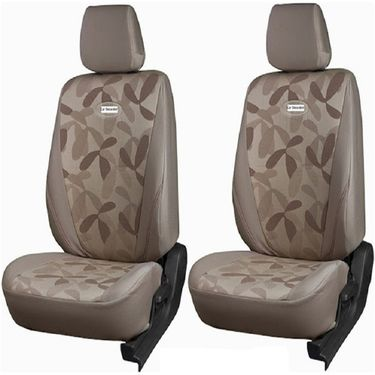 Branded Printed Car Seat Cover for Hyundai Santro Xing - Beige