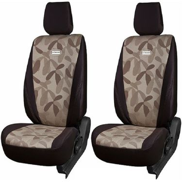 Branded Printed Car Seat Cover for Honda Amaze - Brown