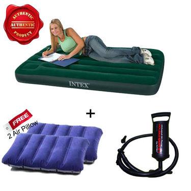 Buy Combo Of Intex Air Mattress Pump Free 2 Pillows