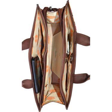Arpera Brown Ladies Handbag Ssa18