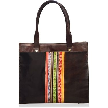 Arpera Black & Brown Ladies Handbag Ssa11